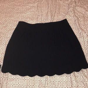 LOFT navy blue scalloped skirt